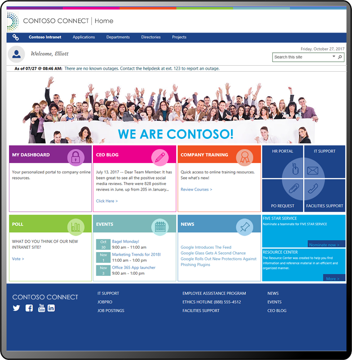 Sharepoint intranet template for Intranet portal design templates