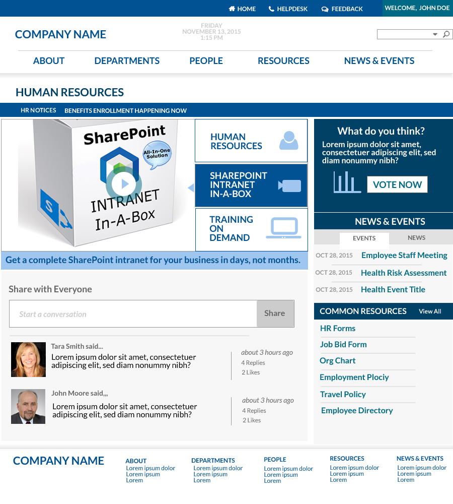 SharePoint Intranet In A Box - Parlae Solutions